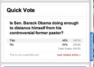 No surprise at the results of this CNN poll.