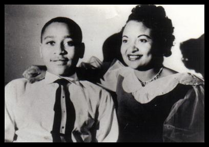 Emmett Till and his mother Mamie Till