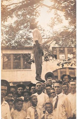 Jim Crow Benefactors at work in Texas, proudly lynching Lige Daniels, while bypassing Sixth Amendment which wouldn't have mattered given only white males were allowed to serve as judge, juror and prosecutor.